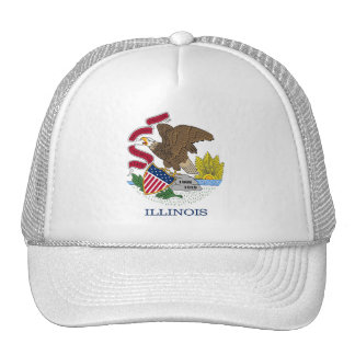 Gorra con la bandera del estado de Illinois - los