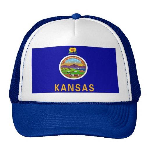 Gorra con la bandera del estado de Kansas - los E.