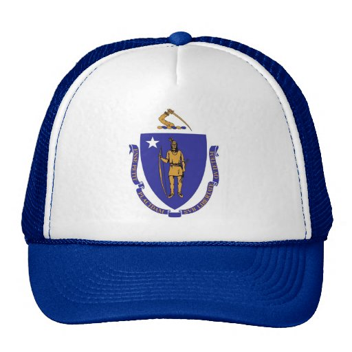 Gorra con la bandera del estado de Massachusetts -