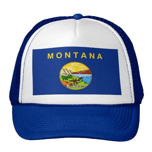 Gorra con la bandera del estado de Montana - los E