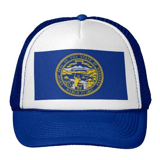 Gorra con la bandera del estado de Nebraska - los