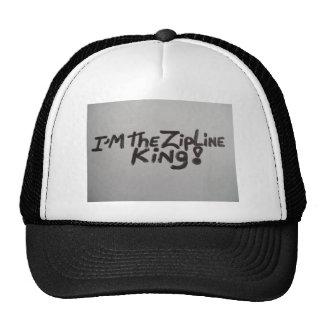 ¡Gorra con palabras soy EL REY de ZIPLINE! en él