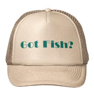 Gorra conseguido de los pescados