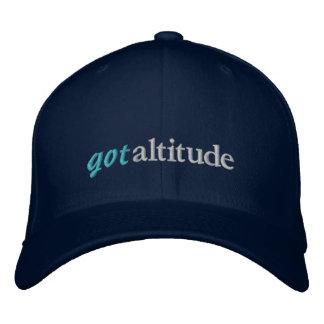 Gorra conseguido del piloto de la altitud gorras de béisbol bordadas