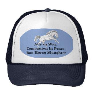 Gorra corriente del camionero del caballo de la ma