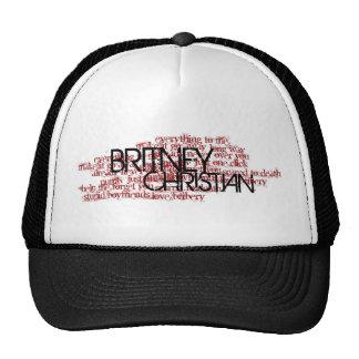 Gorra cristiano del nombre de la canción de Britne