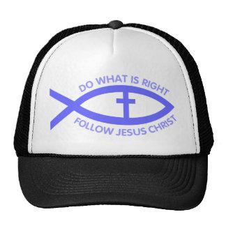 Gorra cristiano del símbolo de los pescados
