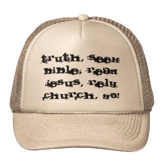 ¡Gorra cristiano! ¡Sea un testigo!