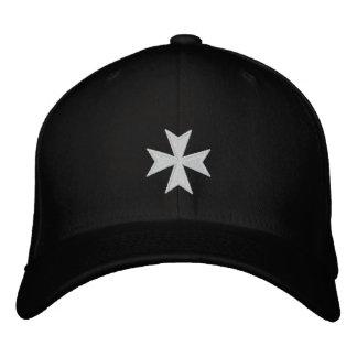 Gorra cruzado bordado negro de Hospitallers Gorra De Beisbol Bordada