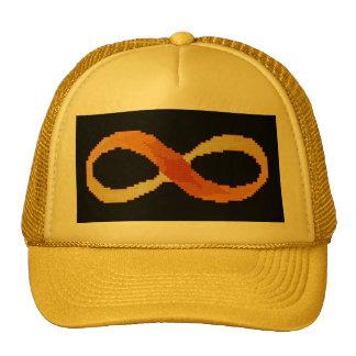Gorra cruzado de la puntada del infinito