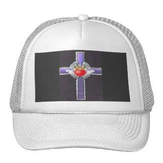 Gorra cruzado púrpura del camionero del béisbol de