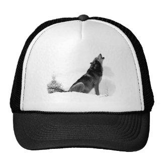 Gorra de Alaska del lobo de madera