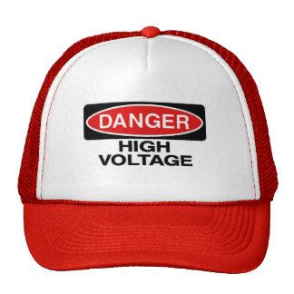 Gorra de alto voltaje de la muestra de peligro del
