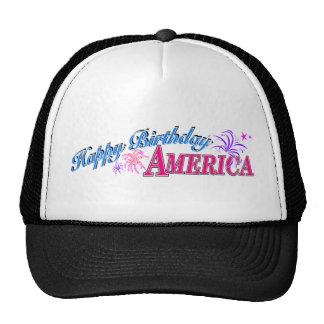Gorra de América del feliz cumpleaños
