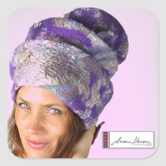 Gorra de Ariane Mariane Pegatina Cuadrada