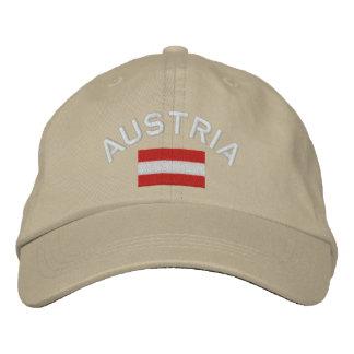 Gorra de Austria - bandera austríaca Gorras Bordadas
