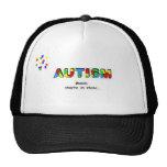Gorra de Awarenss del autismo, palabras, están ade