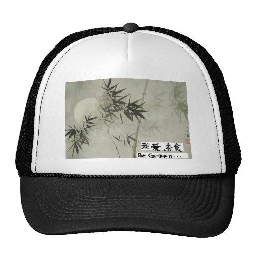 gorra de bambú de la pintura