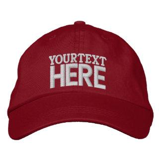 Gorra de béisbol adaptable del texto