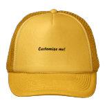 Gorra de béisbol amarillo brillante