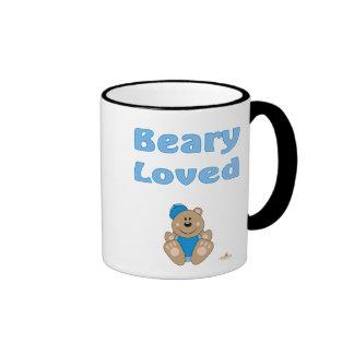 Gorra de béisbol azul linda Beary del oso de Brown Tazas De Café