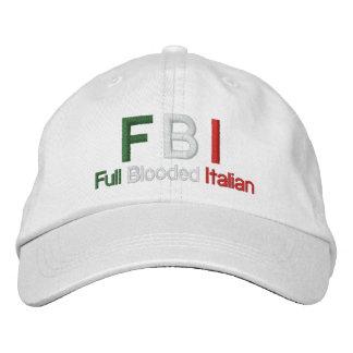 Gorra de béisbol blanca italiana llena del FBI Blo