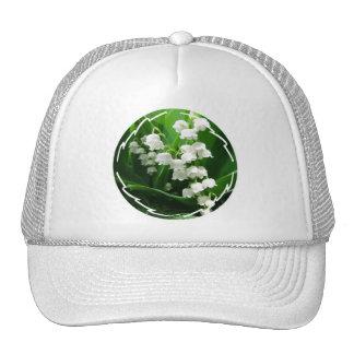 Gorra de béisbol blanco del lirio de los valles