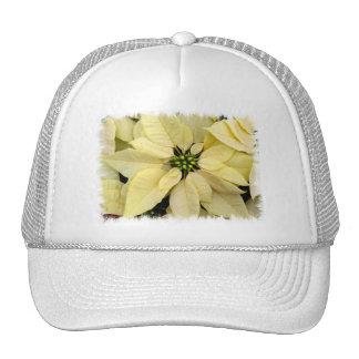 Gorra de béisbol blanco del Poinsettia