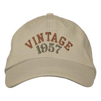 Gorra de béisbol bordada año del vintage