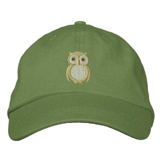 Gorra de béisbol bordada búho del bebé de Ollie