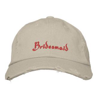 Gorra de béisbol bordada dama de honor