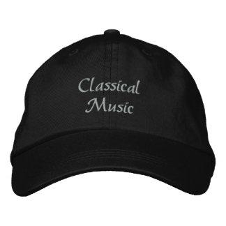 Gorra de béisbol bordada de la música clásica