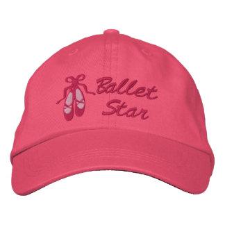 Gorra de béisbol bordada estrella del ballet