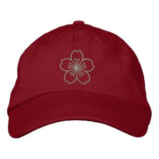 Gorra de béisbol bordada hibisco moderno