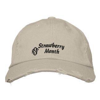 Gorra de béisbol bordada monograma del mes de la f