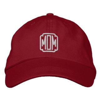 Gorra de béisbol bordada rojo de la mamá