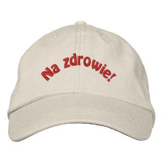 Gorra de béisbol bordada Zdrowie polaca del Na