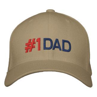Gorra de béisbol bordado papá del número 1