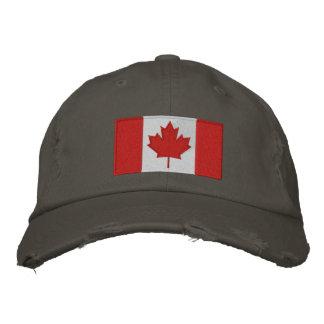 Gorra de béisbol canadiense de la bandera