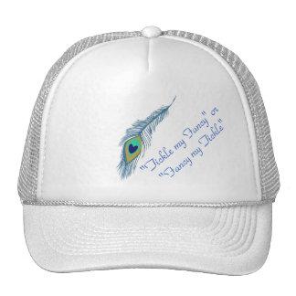 Gorra de béisbol coqueta del diseño del pavo real