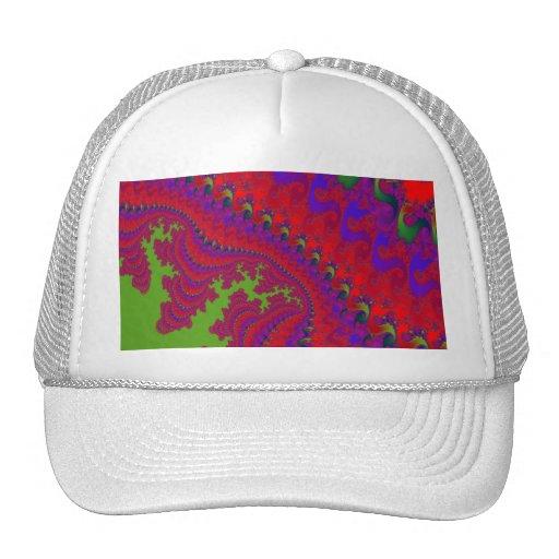 Gorra de béisbol coronada del arte del fractal de