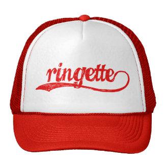 Gorra de béisbol cursivo rojo de Ringette