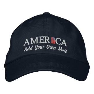 Gorra de béisbol de América - añada su propio