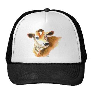 gorra de béisbol de la cara de la vaca