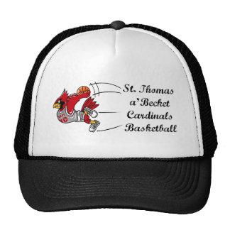 Gorra de béisbol de la escritura del baloncesto de