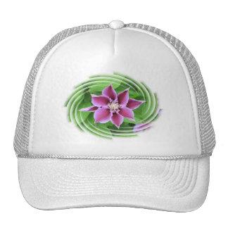 Gorra de béisbol de la flor del Clematis