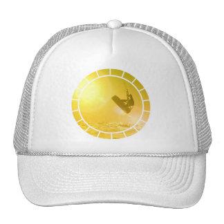 Gorra de béisbol de la silueta de Kitesurfing