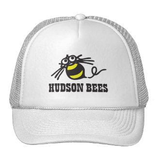 Gorra de béisbol de las abejas del Hudson (blanca)