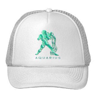 Gorra de béisbol de los rasgos del acuario