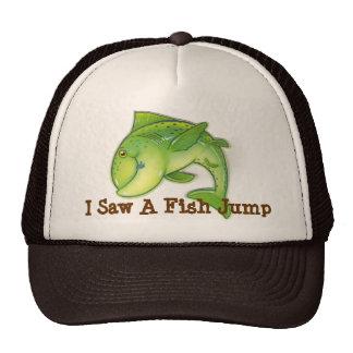 Gorra de béisbol de salto de los pescados